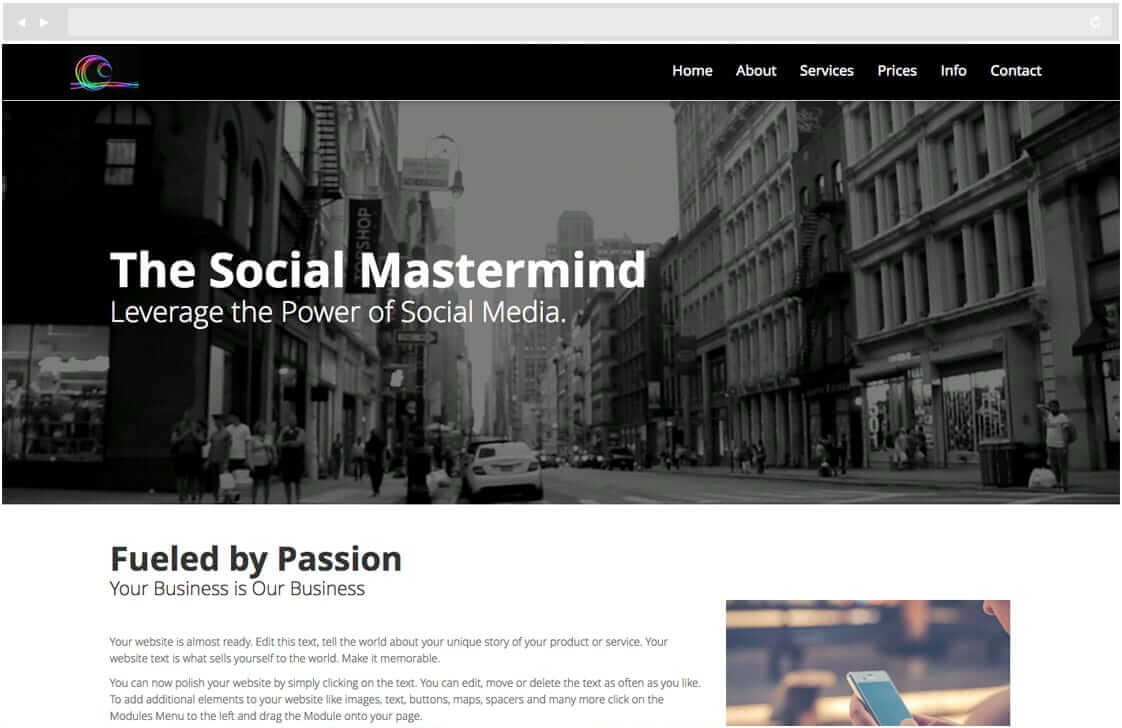 Bookmark's beautiful website design