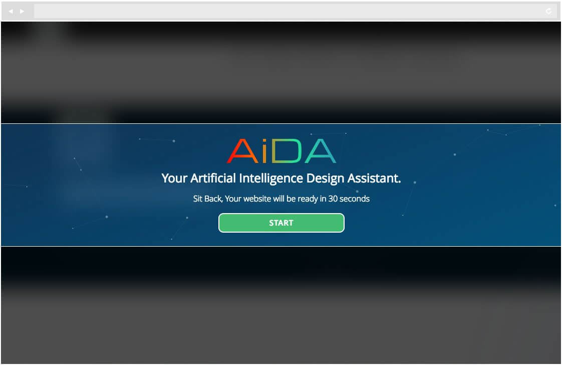 AI-powered website design : Artificial Intelligence Design Assistant Screenshot