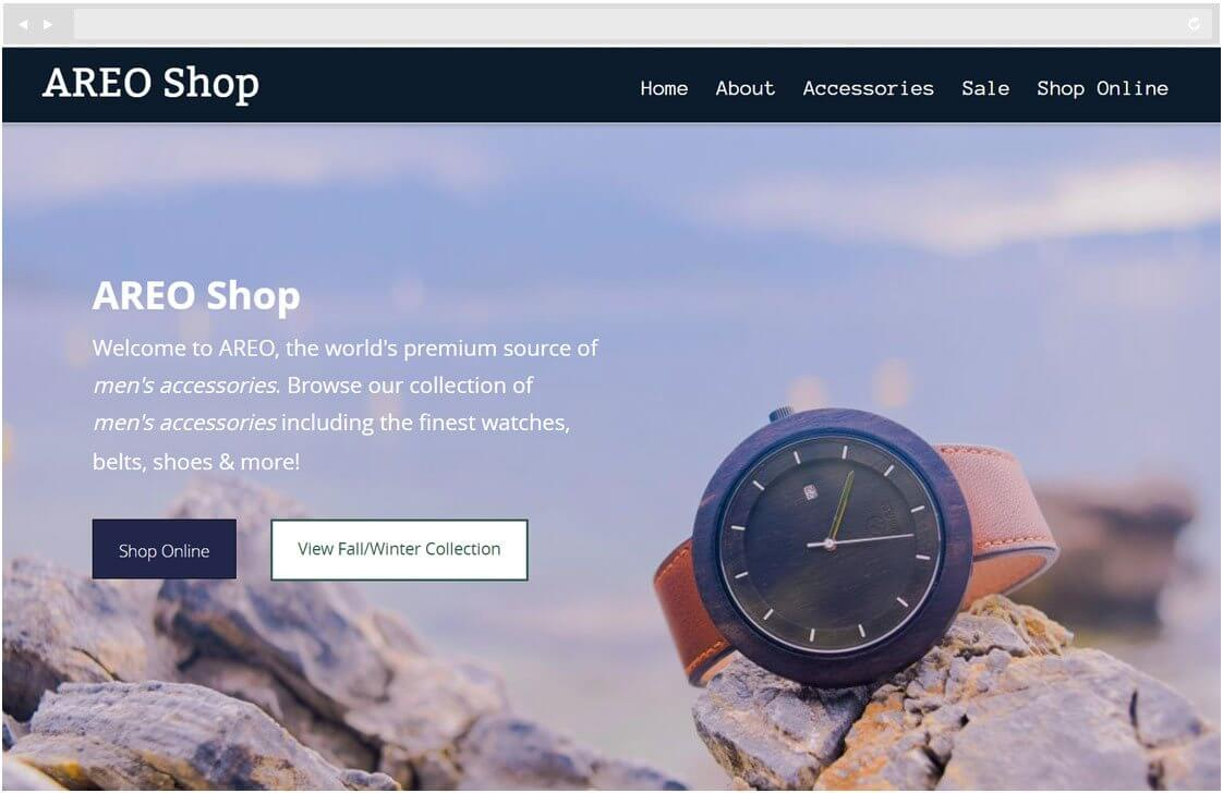 Bookmark.com eCommerce website builder screenshot