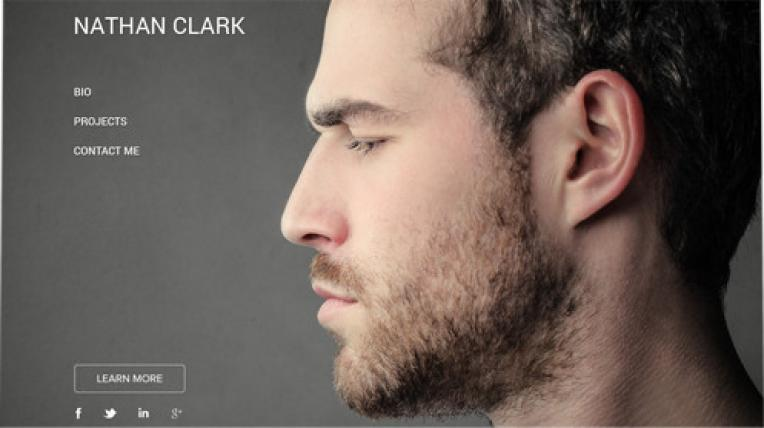 Nathan Clark website template