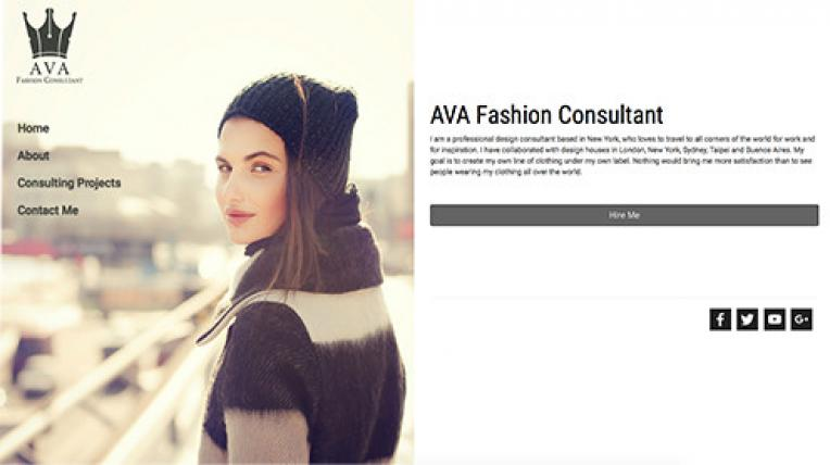 AVA Fashion Consultant website template