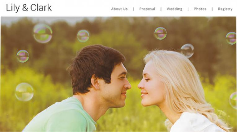 Lily and Clark website template