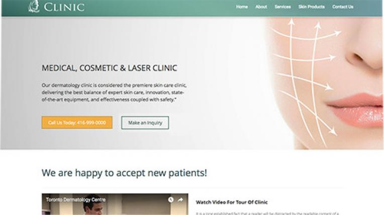 Clinic website template