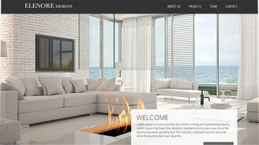 Elenore Designs website template