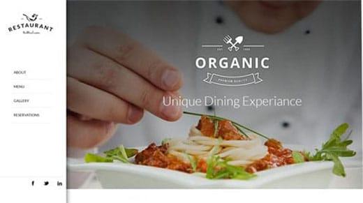 Organic website template