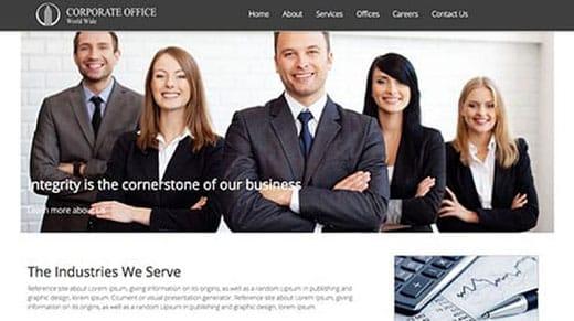 Corporate Office website template