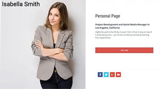 Isabella Smith website template