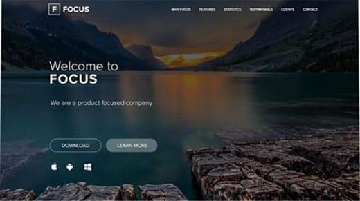 Focus website template