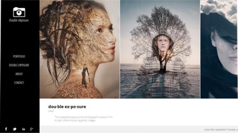 Double Exposure website template