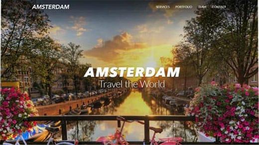 Amsterdam website template
