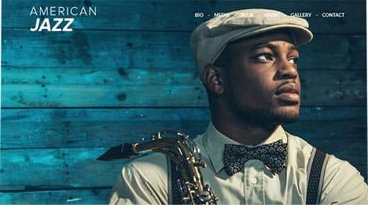American Jazz  website template