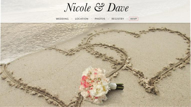 Nicole and Dave website template