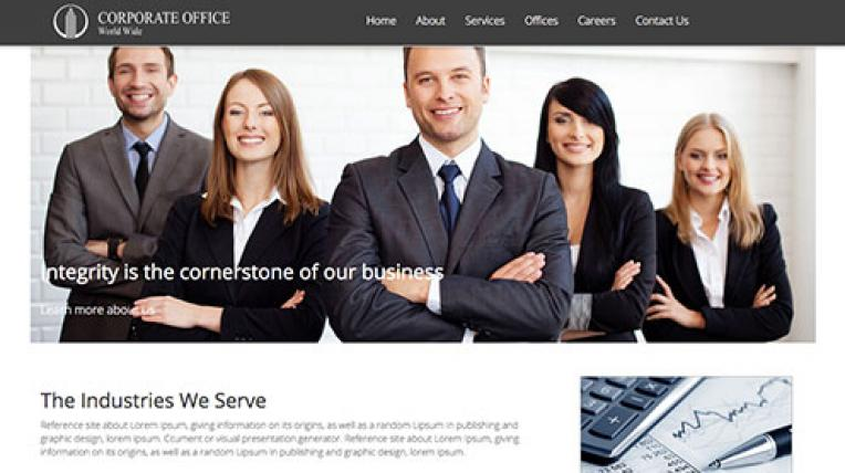 Corporate Office website template