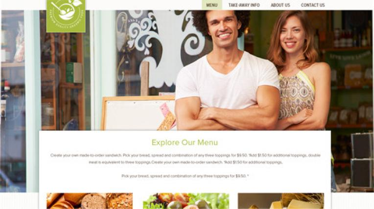 Premium Food website template