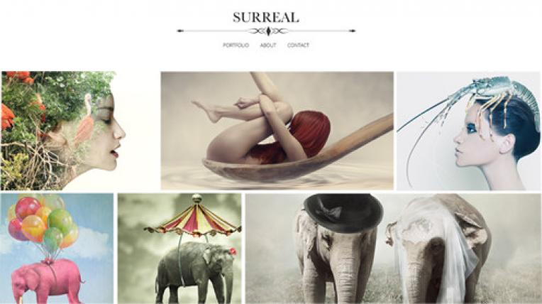 Surreal website template