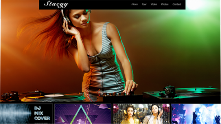 Stacyy website template