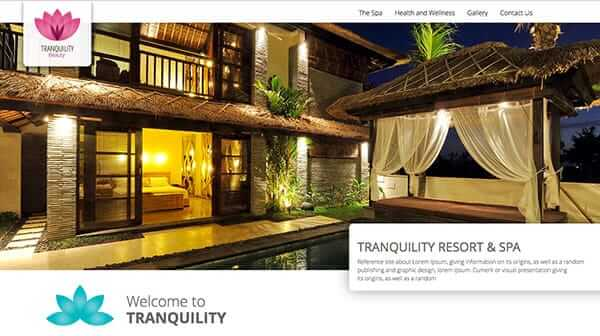 Tranquility website template