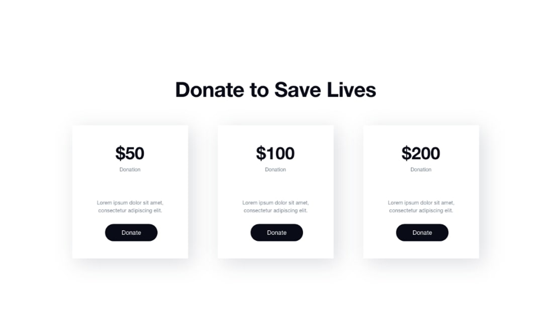 Donation-section