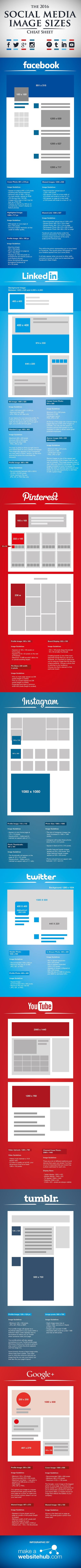 Infographic | Social Media Image Sizes Cheat Sheet