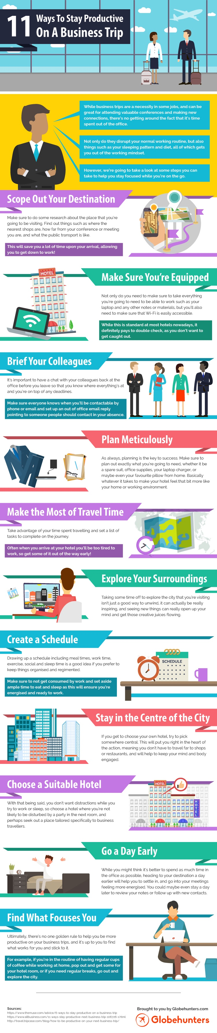 11 ways to stay productive on a business trip