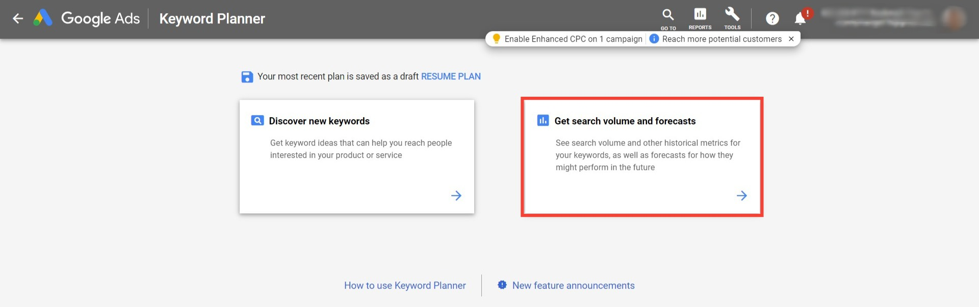 Keyword Planner - Bookmark Your Life Inc. - Google Ads