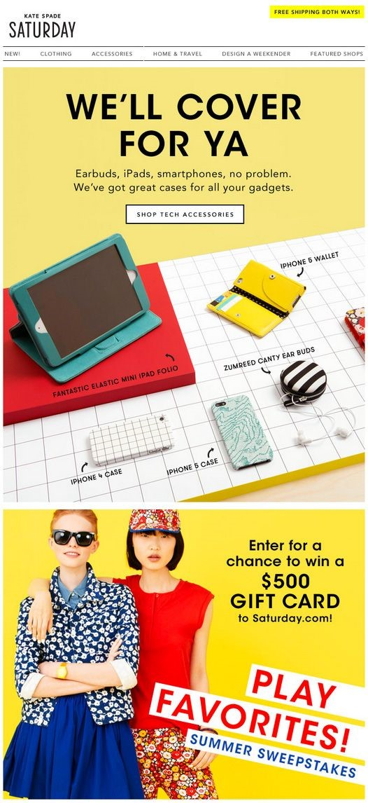 email newsletter template Kate Spade