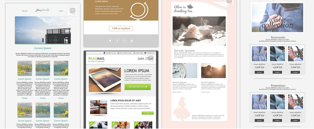 Design attractive email newsletter templates