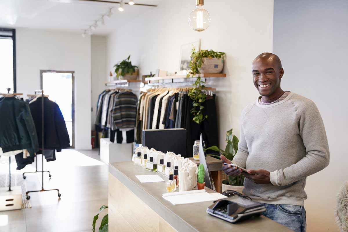 small business owner being productive