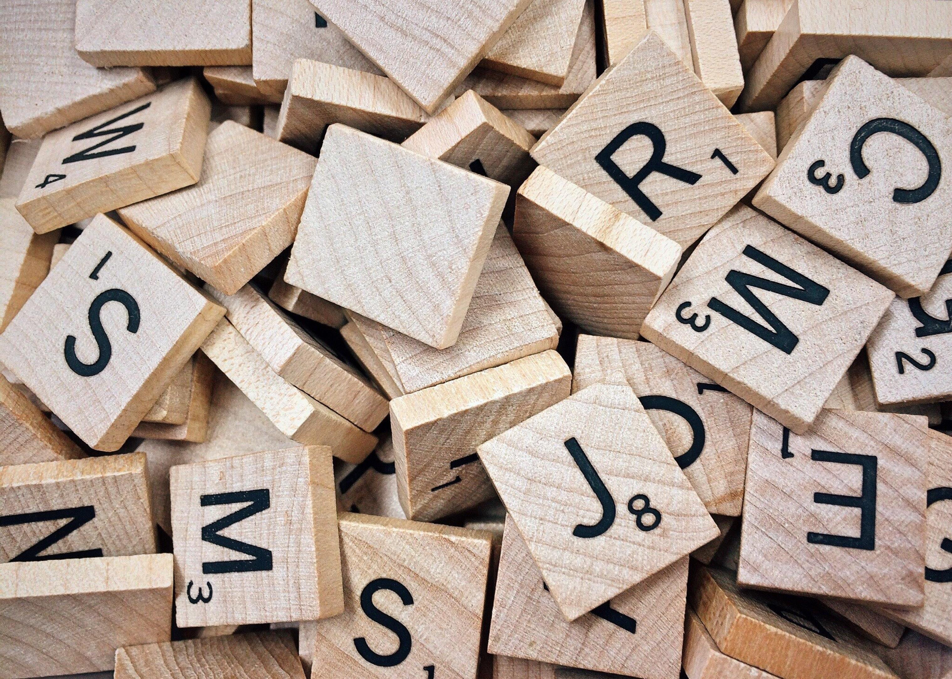 scrabble letters jumbled