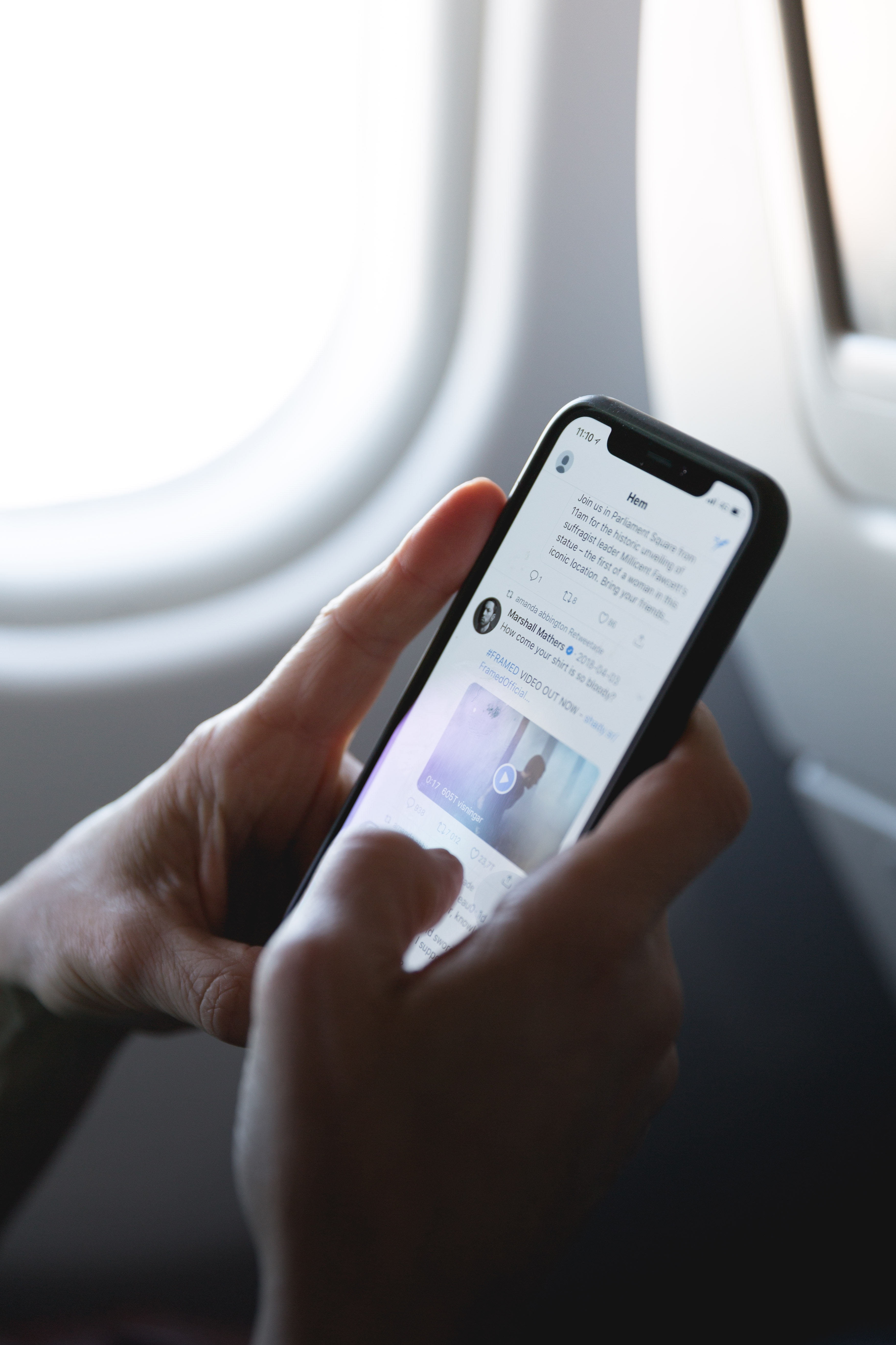 email marketing on a plane